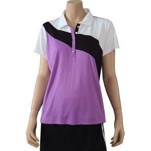 IZOD Purple Black & White Golf Shirt XL